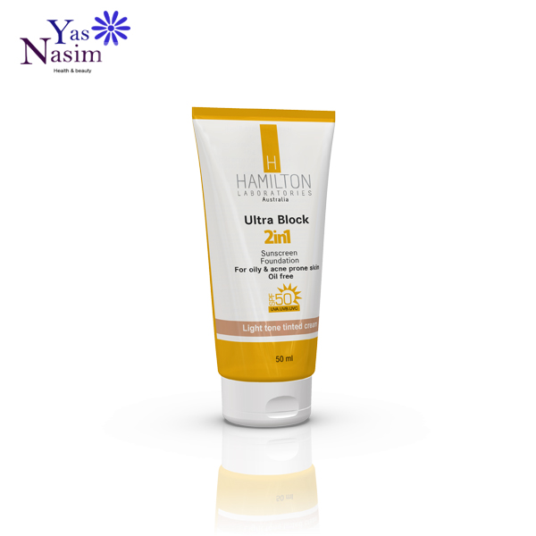 ضد آفتاب رنگ روشن پوست چرب 2در1 همیلتون