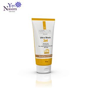 ضد آفتاب رنگ طبیعی پوست چرب 2در1 همیلتون